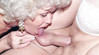 Grandmas Francesca and Erlene Sharing a Young Cock