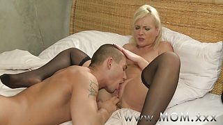 MOM Blonde MILFs and their lovers