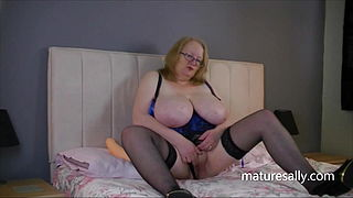 Sally playing with her dildo