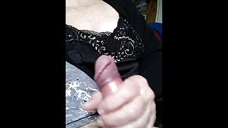 Amateur Granny playing with young dick
