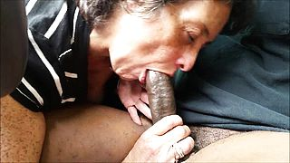 Cock  crazed granny giving head to her amore