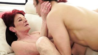 Shaved Granny Gets Fingered