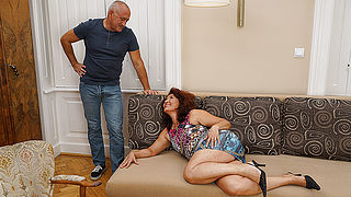 Horny housewife doing her lover