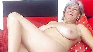 Busty Granny Linda  years Webcam Solo