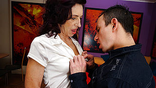Sexy skinny mother is fucked hard by her toyboy