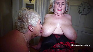 Three large breasted mature amateurs